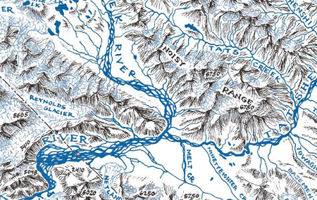 Alsek and Tatshenshini River Map Detail