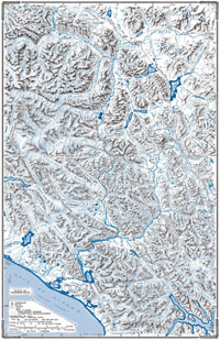 Map of the Alsek and Tatshenshini Rivers