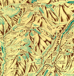 Chilkoot Trail Map Detail