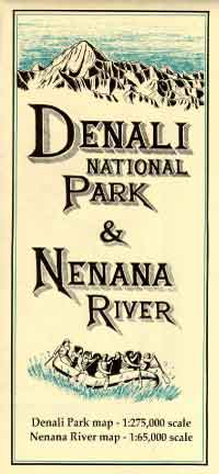 Denali National Park and Nenana River Map