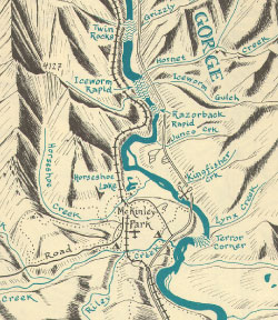 Nenana River Map Detail
